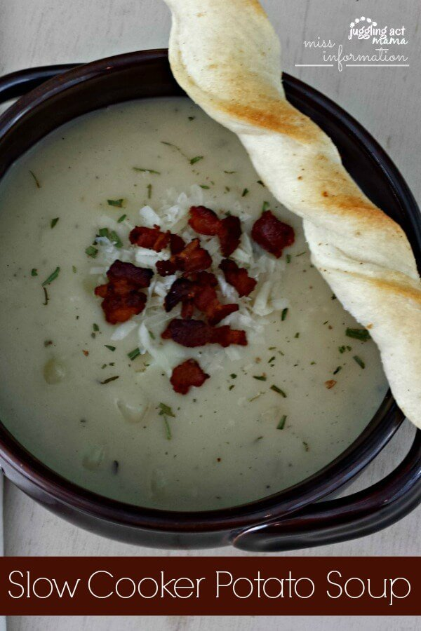 Slow Cooker Potato Soup Juggling Act Mama as seen on Miss Information