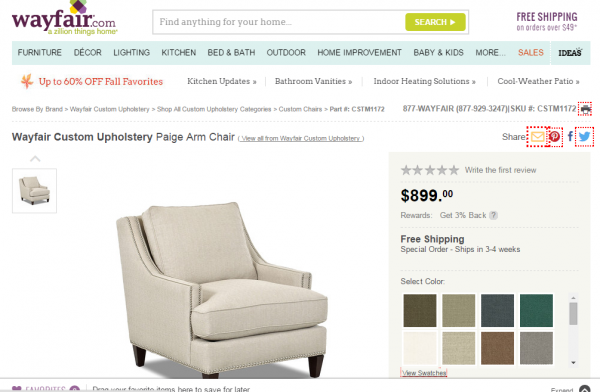 Take the fear out of buying custom upholstery online it's easy with Wayfair