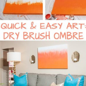 Dry Brush Ombre Art