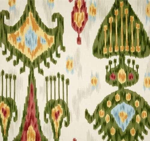 Robert Allen Kandahar Jewel fabric - Living Room Curtains