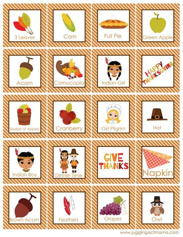 photo about Printable Bingo Cards for Kids named Absolutely free Printable Thanksgiving Bingo Activity Youngsters Thanksgiving
