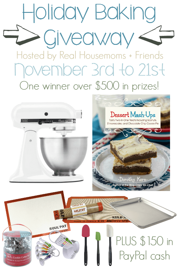 Win a Kitchen aid mixer, $150 in Paypal Cash and some of our other favorite holiday baking tools!