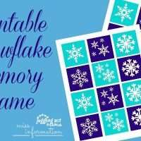 Printable Snowflake Memory Game