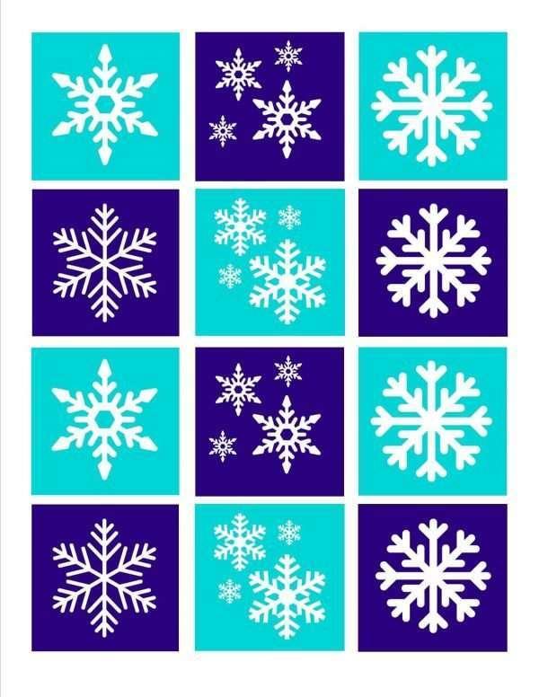 Snowflake Memory Game