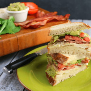 Turkey Bacon and Guacamole Sandwich