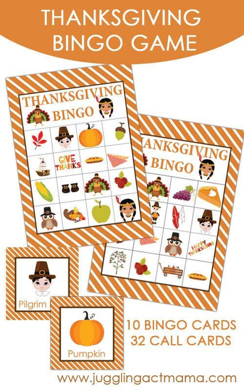 Thankskgving Bingo Game Printable