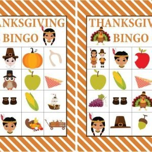 FREE Printable Thanksgiving BINGO Set