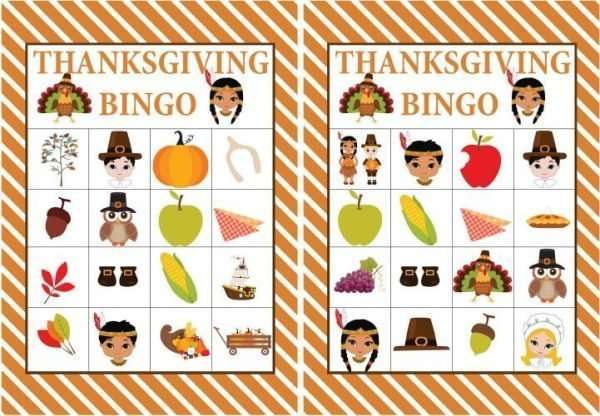 graphic about Bingo Chips Printable named Totally free Printable Thanksgiving Bingo Video game Children Thanksgiving
