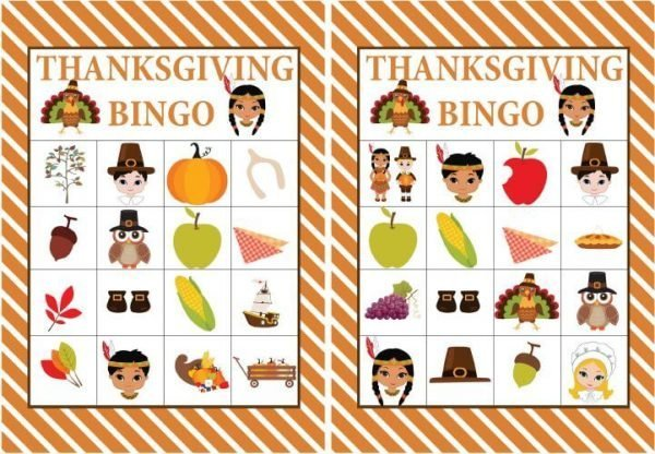 picture relating to Printable Bingo Chips called Cost-free Printable Thanksgiving Bingo Video game Small children Thanksgiving