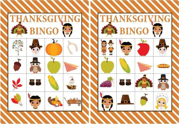 It's just a graphic of Universal Free Printable Thanksgiving Bingo