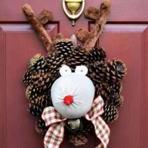 Reindeer Christmas Wreath Tutorial
