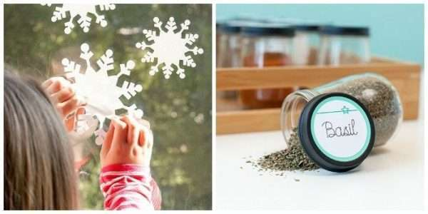 Make these cute window clings and jar labels with the cricut explore - see the holiday gift guide!