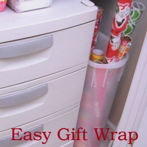 Easy Gift Wrap Organization