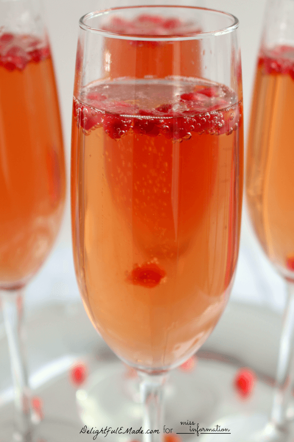 Pomegranate prosecco cocktail recipe miss information for Easy to make cocktails