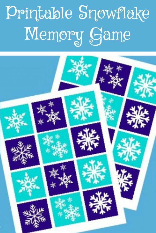 A fun free printable snowflake memory game perfect for toddlers