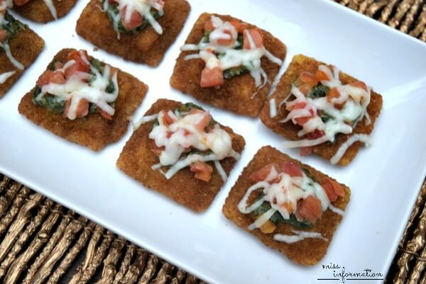 Baked Ravioli Bruschetta - a quick appetizer perfect for any party
