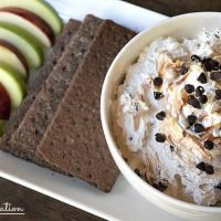 Chocolate Chip Caramel Apple Dip is a quick appetizer recipe or make it for dessert. Kids and adults love it and it will go fast!
