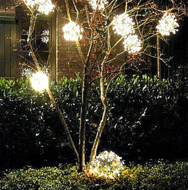 diy outdoor christmas ornaments miss information - Christmas Light Balls For Trees