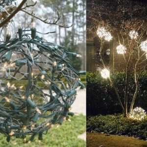 DIY Outdoor Christmas Ornaments