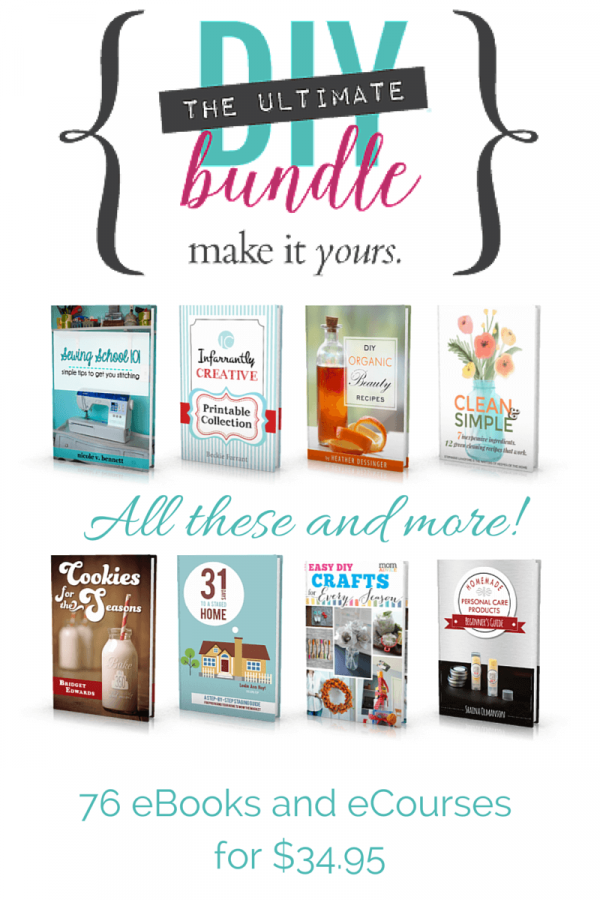 This ebook and ecourse bundle has everything for those who are busy and don't have time to craft or DIY! It includes Home décor, Furniture painting, Photography, Handmade gifts, homemade skincare products, Cake decorating, Photography and photo-editing, how to pick Paint colors and interior design tips!