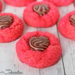 Strawberry Chocolate Heart Cookies