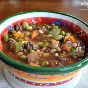 Crockpot Homemade Vegetable Soup is an easy soup recipe that you can make and freeze. Make this vegetable soup with ground beef or substitute your favorite protein.