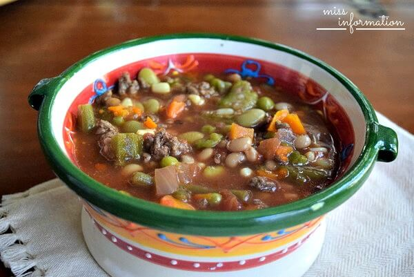 Slow Cooker Vegetable Soup is an easy soup recipe that you can make and freeze. Make this vegetable soup with ground beef or substitute your favorite protein.