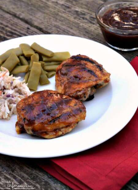 The Best Barbecue Chicken and it's so easy using a bottled sauce and a few added ingredients