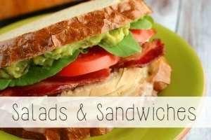 salads & sandwiches recipe index