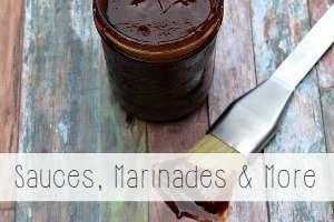 sauces and marinades recipe index