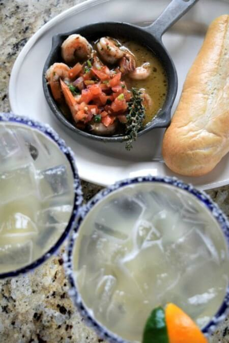 Skillet Simmered Jerk Shrimp and Margaritas from Bahama Breeze #Vivalarita #ad