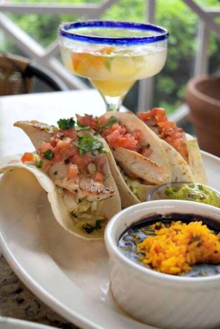 Key West Fish Tacos from Bahama Breeze - Cod with fresh salsa and guacamole YUMMMM! #Vivalarita #ad