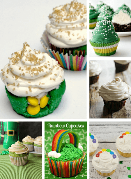 Six scrumptious St. patrick's Day cupcake recipes!