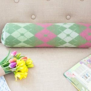 DIY No Sew Bolster Pillow