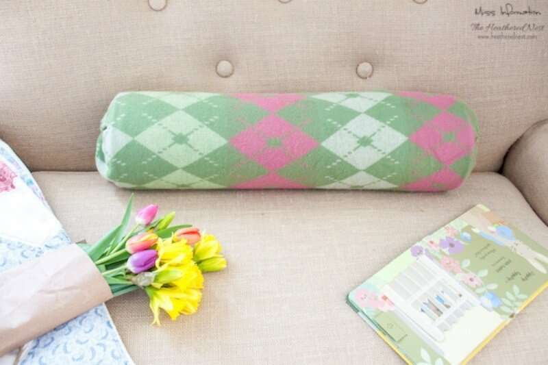 No Sew Bolster Pillow Diy Miss Information