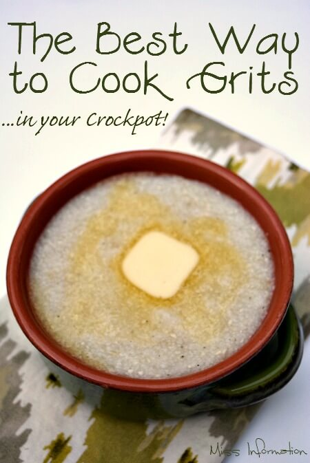 Ever wonder what the best way to cook grits is? Hands down it's in your crock pot for creamy smooth grits every time!