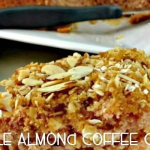 Moist, delicious apple almond coffee cake is perfect for any breakfast or brunch