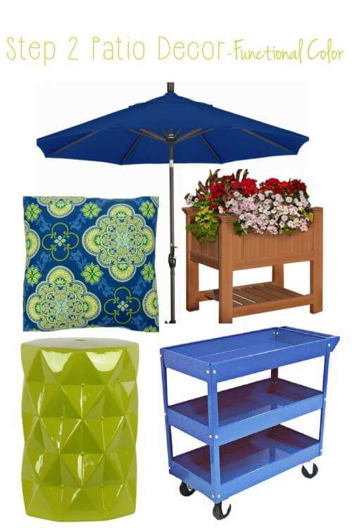 Step by Step how to choose furniture, accessories and add color to your patio or porch
