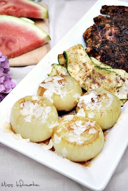 These grilled onions in foil taste just like French Onion Soup and are so easy to make!!! Pin it to Grill it!