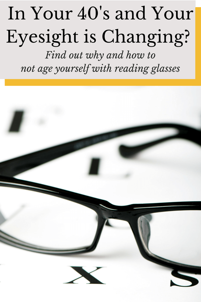 In Your 40's and Your Eyesight is Changing? Find out why and how to not age yourself with reading glasses