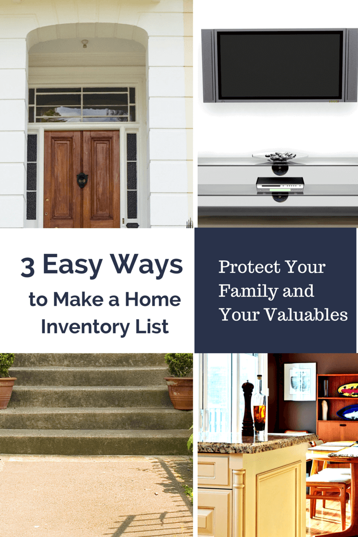 The best ways to take a home inventory for insurace includes templates, software and apps! Pin it to make your home inventory list today!