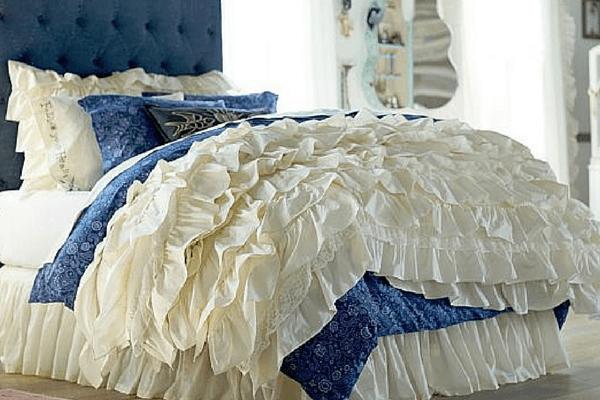 Denim and Ruffle Comforter