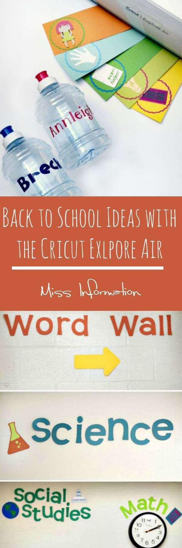 Cricut Explore Air - Back to School Ideas | Miss Information
