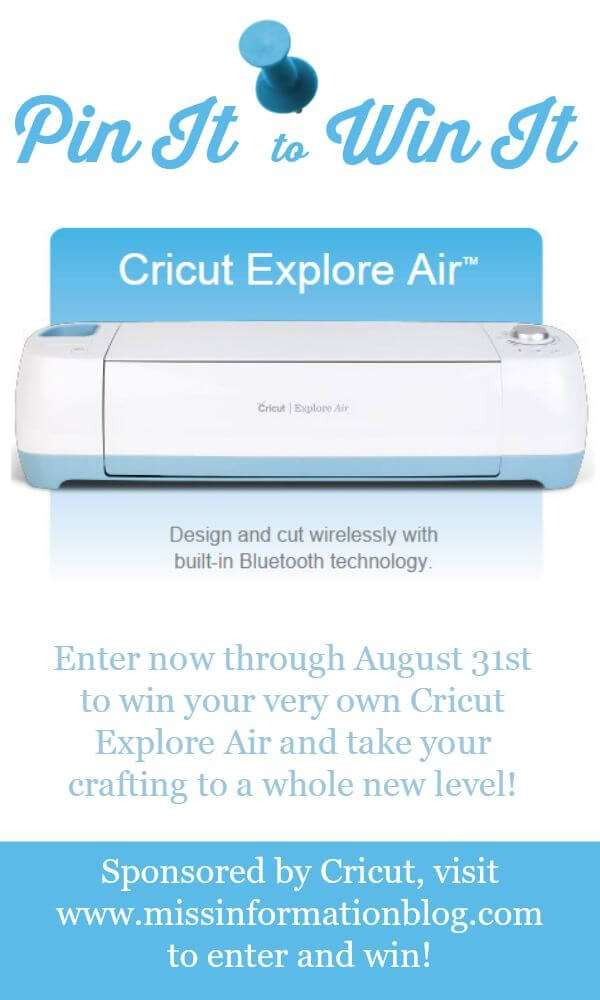 Cricut Explore Air - Back to School Ideas | Miss Information