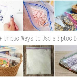 Many people use zip top bags for sandwiches and leftovers, but here are over 15 Unique uses for Ziploc bags that you never thought of. Get the ideas here!