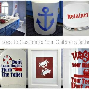 Easy DIY Custom Bathroom Decor with a Cricut