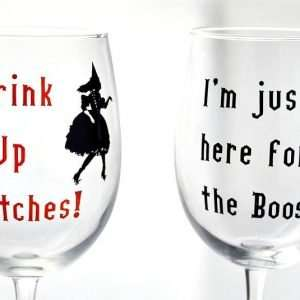 DIY Halloween Wine Glasses