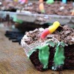 Toxic Ooze Halloween Poke Cake