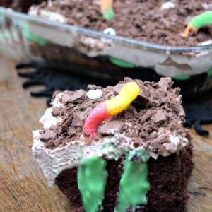 Everyone loves a poke cake you've got to make this fun and easy Toxic Ooze Halloween Poke cake for the kids!