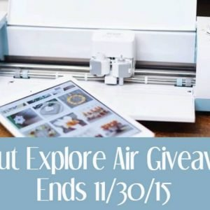 Enter to Win a Cricut Explore Air by 11/30/15 so you can craft your Christmas!